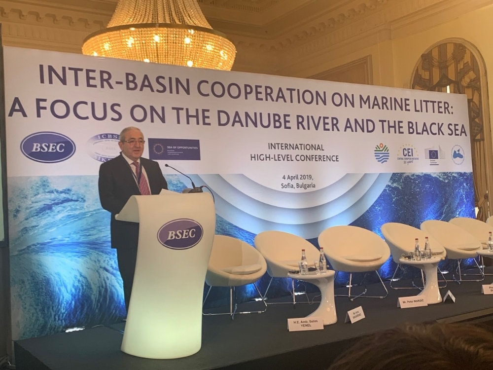 "Participation of Mr. Asaf Hajiyev, PABSEC Secretary General in the International conference ""Inter-basin Cooperation on Marine Litter: a Focus on the Danube River and the Black Sea"", Sofia, 4 April 2019"