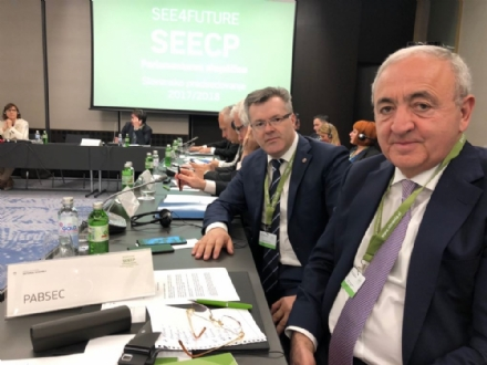 Participation of the PABSEC Delegation in the Fifth Plenary Session of the South East European Cooperation Process Parliamentary Assembly (SEECP PA),  Ljubljana, 13-14 April 2018