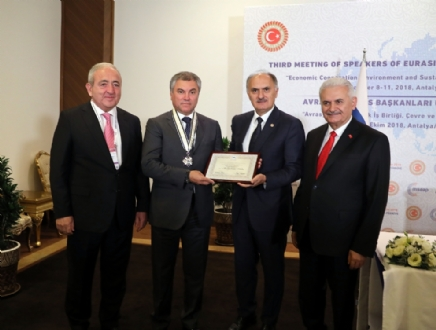 Participation of the PABSEC Delegation in the Third Meeting of the Speakers of the Eurasian Countries' Parliaments, Antalya, 8 – 11 October 2018