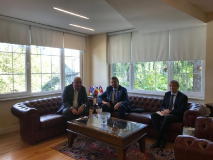 Visit of Mr. Andrey Buravov, Consul General of the Russian Federation to Istanbul, to the PABSEC International Secretariat, Istanbul, 29 August 2019.