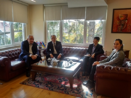 Visit of H.E. Mr. Cha Kon Il, Ambassador of the Democratic People's Republic of Korea to Bulgaria, to the PABSEC International Secretariat, Istanbul 28 November 2019