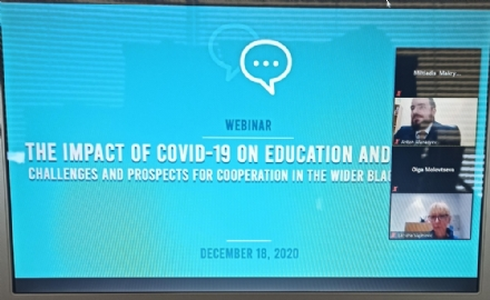 Participation of the PABSEC International Secretariat to the Webinar on The Impact of Covid-19 on Education and Science: Challenges and Prospects for Cooperation in the wider Black Sea region, 18 December 2020