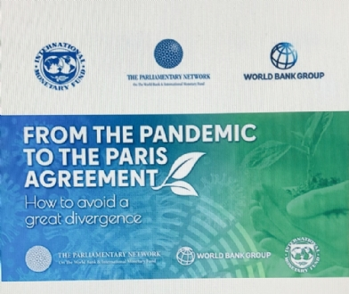 "Participation of the PABSEC International Secretariat to the World Bank and IMF 2021 Global Parliamentary Workshop ""From the Pandemic to the Paris Agreement: How to avoid a great divergence"", 5-6 April 2021"