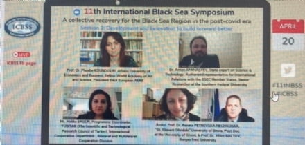 "Participation of the PABSEC International Secretariat to the ICBSS 11th International Black Sea Symposium ""A collective recovery for the Black Sea Region in the post-Covid era"", 20 April 2021"