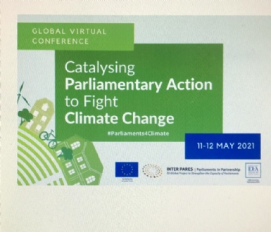 Participation of the PABSEC International Secretariat to the Global Virtual Conference 'Catalysing Parliamentary Action to Fight Climate Change', 11-12 May 2021