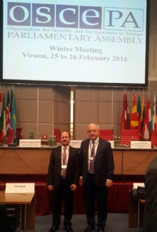 Participation of Mr. Ramazan CAN, Head of the PABSEC Turkish Delegation and Mr. Asaf HAJIYEV, PABSEC Secretary General, in the 15th Winter Meeting of the Parliamentary Assembly of the Organization for the Security and Co-Operation in Europe (OSCE PA)