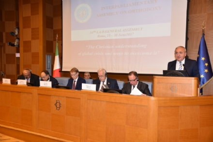 Participation of Mr. Asaf Hajiyev, PABSEC Secretary General, in the 24th General Assembly of the Interparliamentary Assembly on Orthodoxy (I.A.O.), Rome, 25 – 29 June 2017