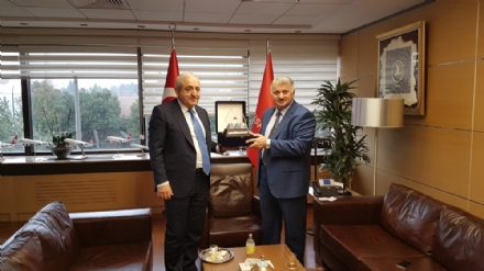 Visit of Mr. Asaf Hajiyev, PABSEC Secretary General, to Mr. Bilal Ekşi, Chief Executive Officer and Deputy Chairman of the Board and Executive Committee of Turkish Airlines Inc., Istanbul, 9 March 2017